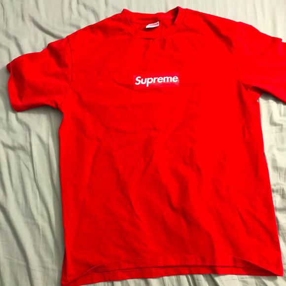 73ab88a9f018 Red Supreme Box Logo T-Shirt